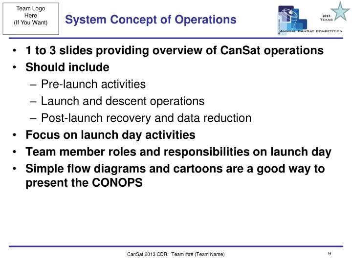System Concept of Operations