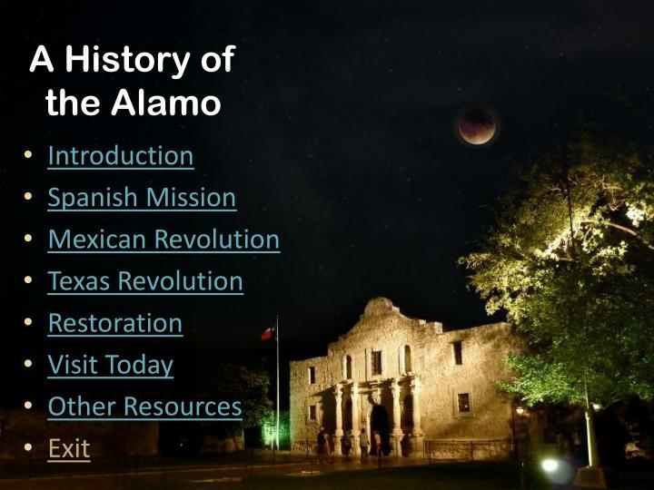 A History of the Alamo