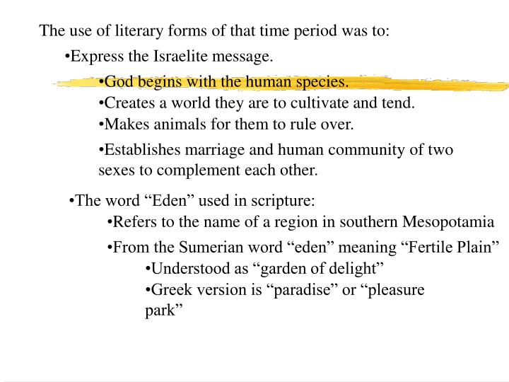 The use of literary forms of that time period was to: