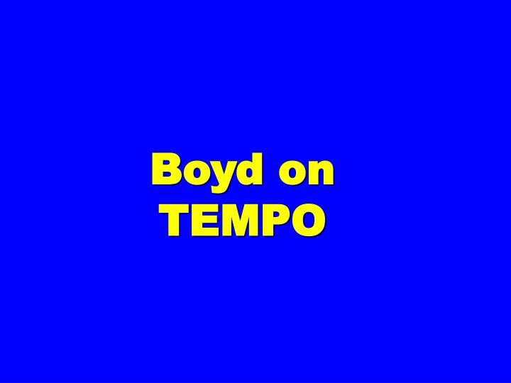 Boyd on