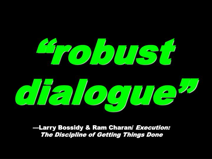 """robust dialogue"""