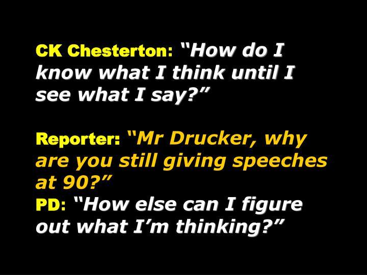 CK Chesterton