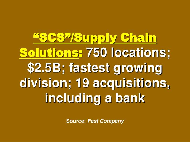 """""""SCS""""/Supply Chain Solutions"""