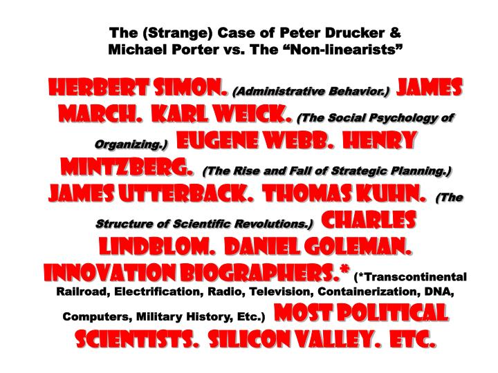 The (Strange) Case of Peter Drucker &