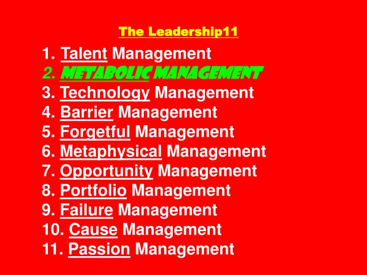 The Leadership11
