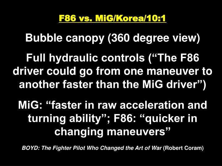 F86 vs. MiG/Korea/10:1