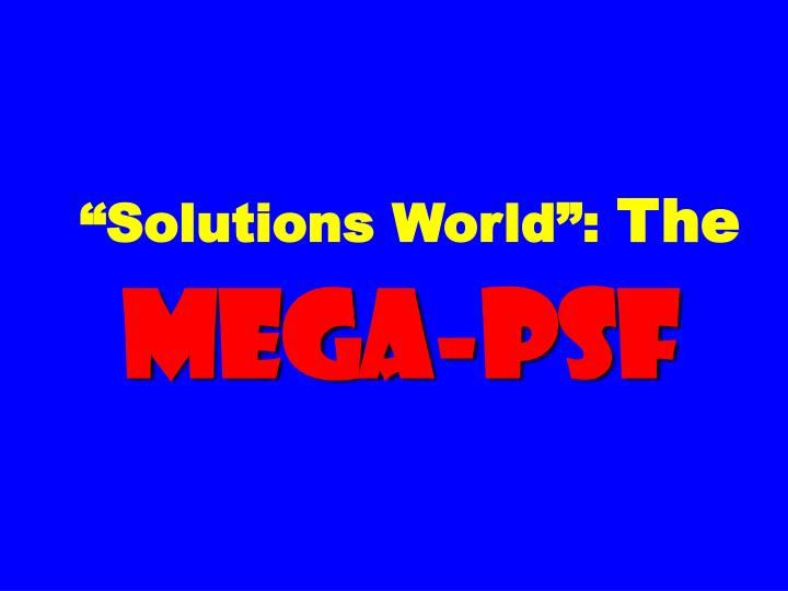 """Solutions World"":"