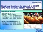 closed loop recycling in the glass melt at schott glas mainz and stvg valassk mez r c cz