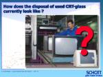how does the disposal of used crt glass currently look like