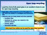 open loop recycling