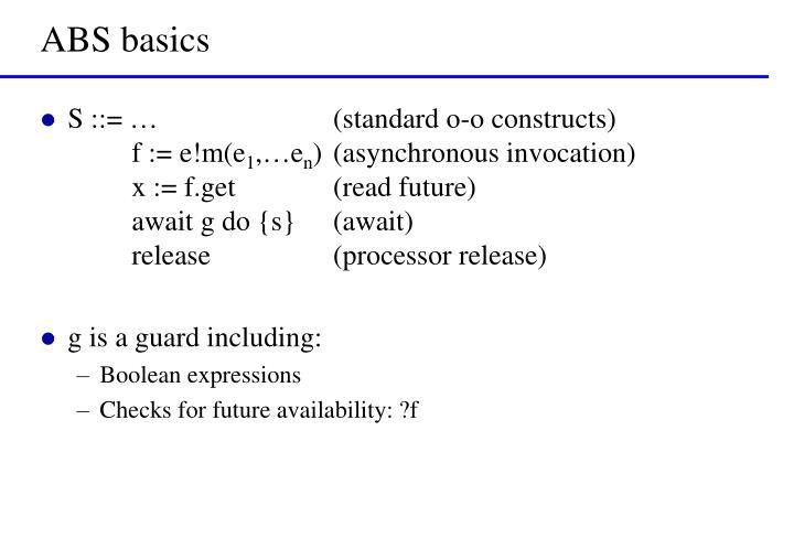 ABS basics
