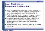 case slipstream cont requirements management