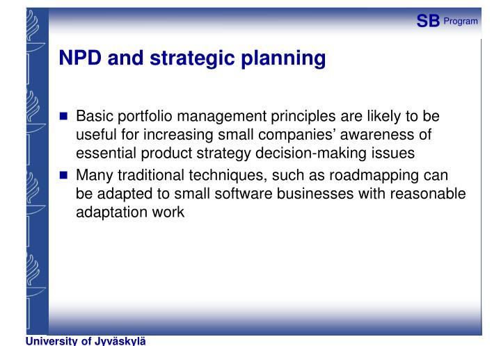 NPD and strategic planning