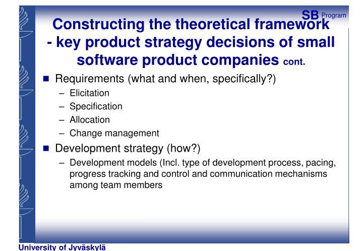 Constructing the theoretical framework