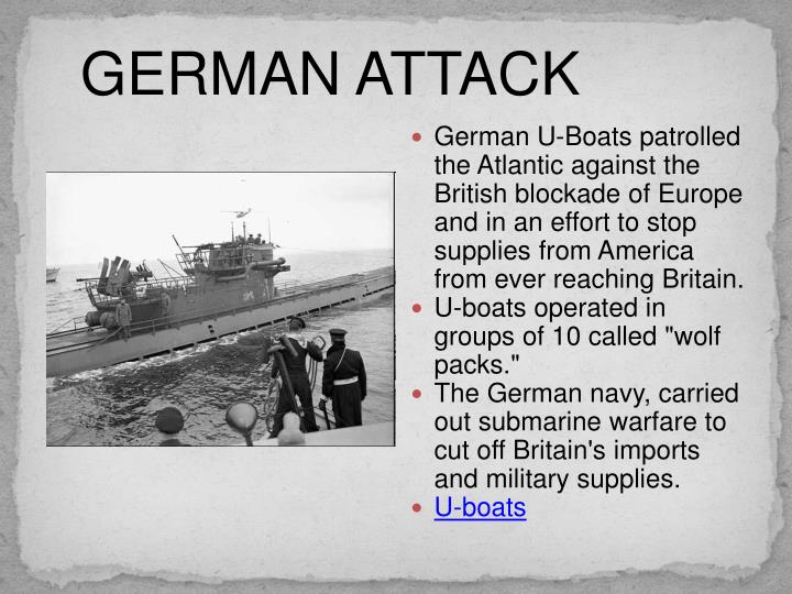 GERMAN ATTACK