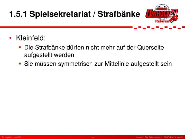1.5.1 Spielsekretariat / Strafbänke