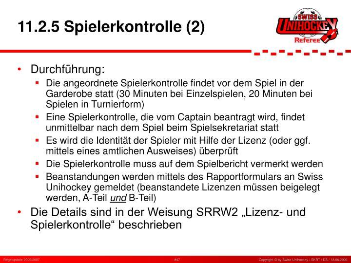 11.2.5 Spielerkontrolle (2)