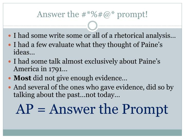 Answer the @ prompt1