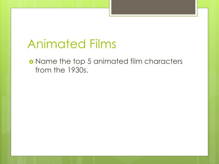 Animated Films