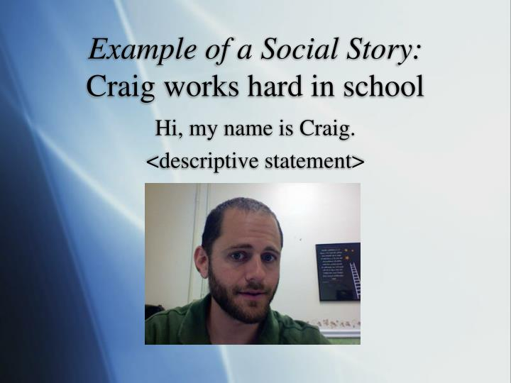 Example of a Social Story: