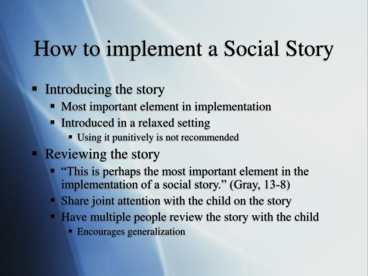 How to implement a Social Story