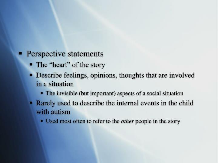 Perspective statements