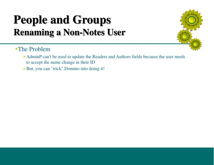 People and Groups