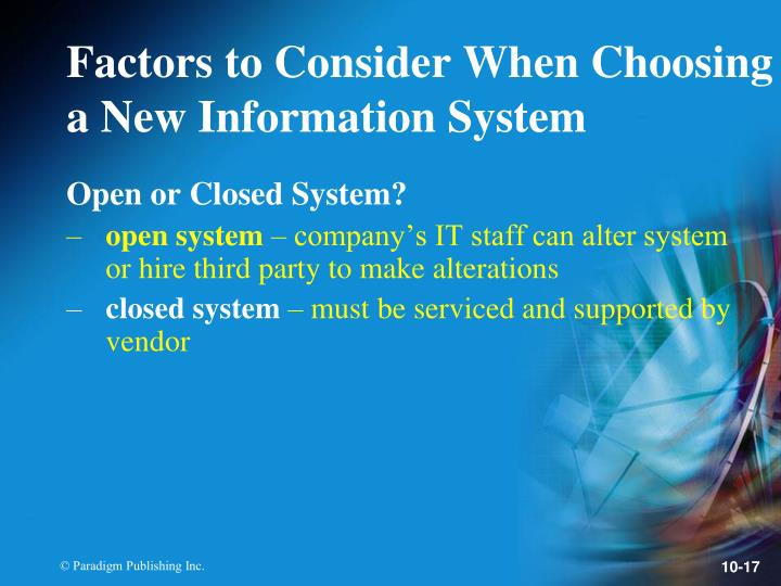 Open or Closed System?