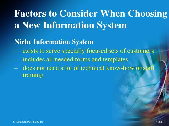 Niche Information System