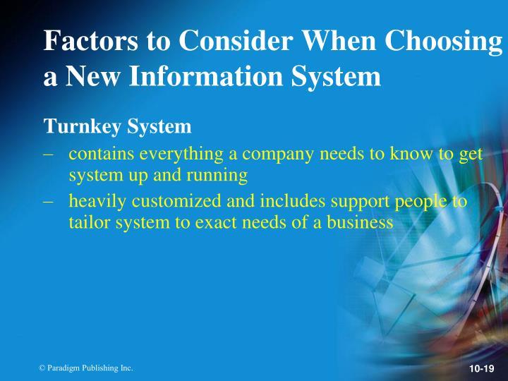 Turnkey System