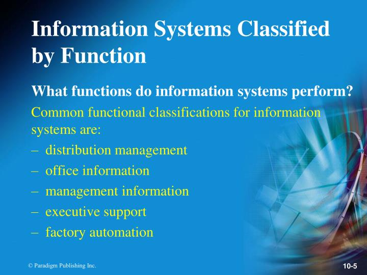 What functions do information systems perform?