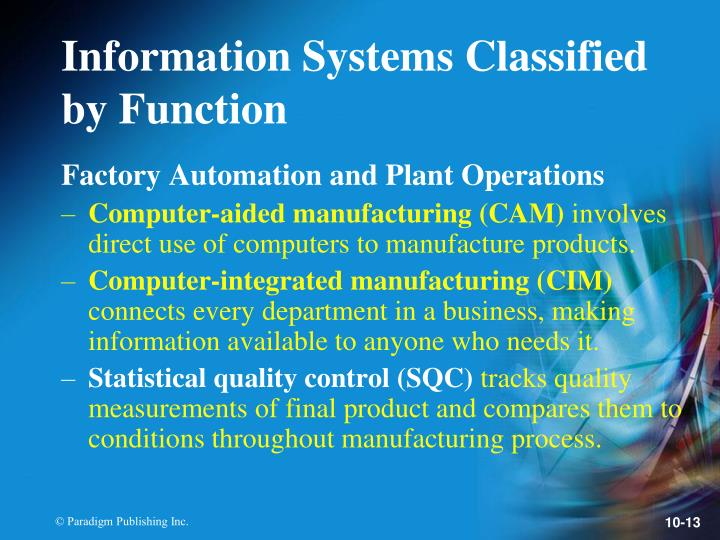 Factory Automation and Plant Operations