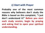 1 start with prayer