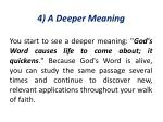 4 a deeper meaning