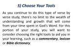 5 choose your tools