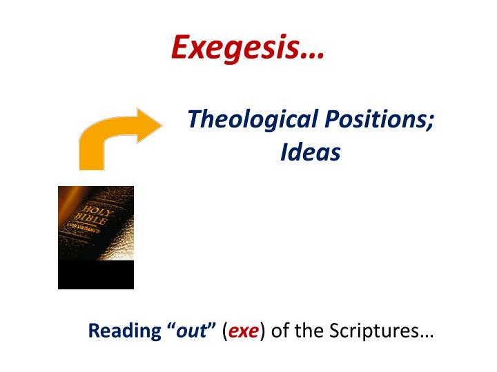Exegesis…