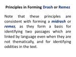 principles in forming drash or remez