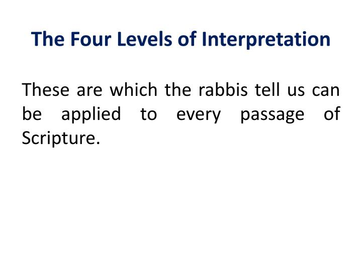 The Four Levels of Interpretation