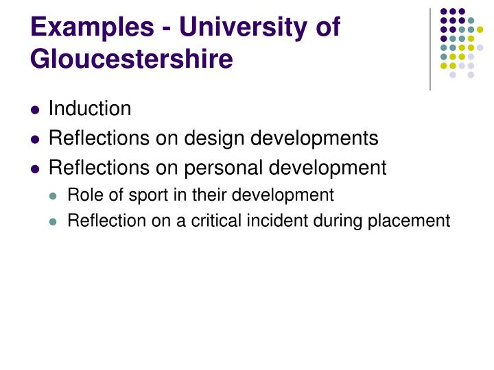 Examples - University of Gloucestershire