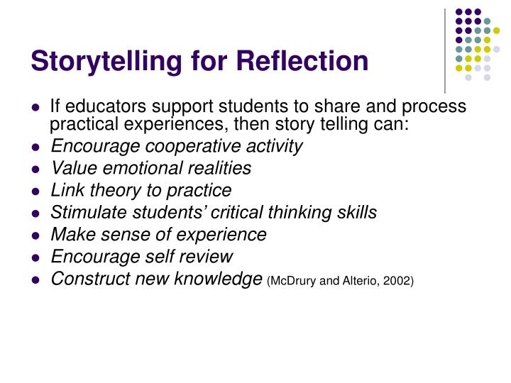 Storytelling for Reflection