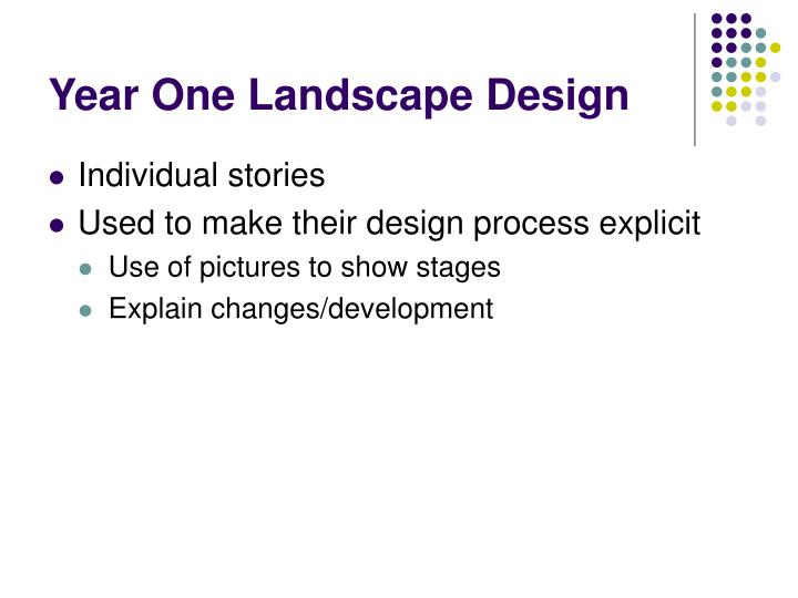 Year One Landscape Design