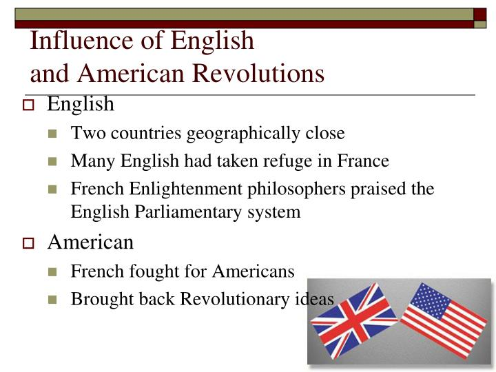Influence of English