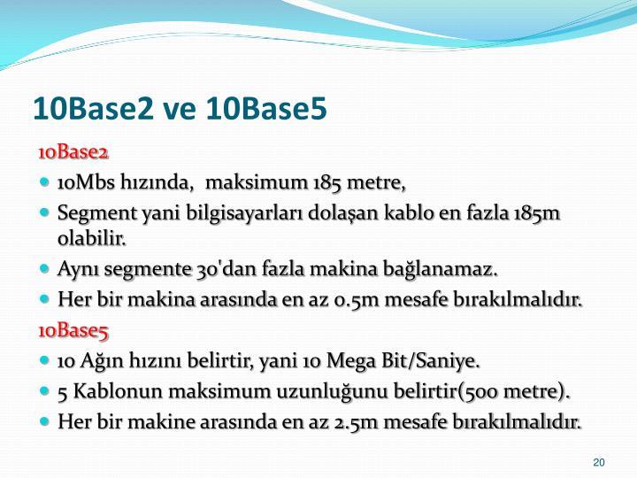 10Base2 ve 10Base5