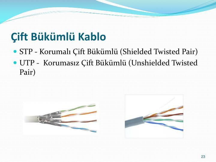 Çift Bükümlü Kablo