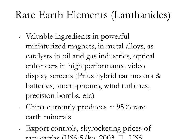 Rare Earth Elements (Lanthanides)