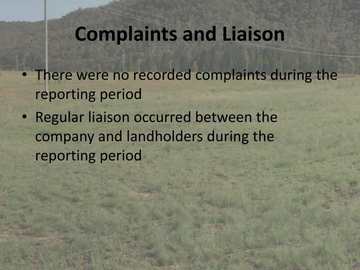 Complaints and Liaison