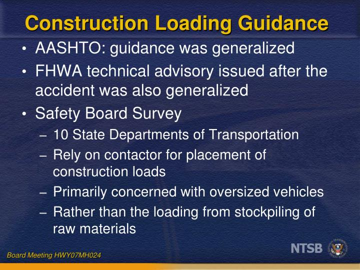 Construction Loading Guidance