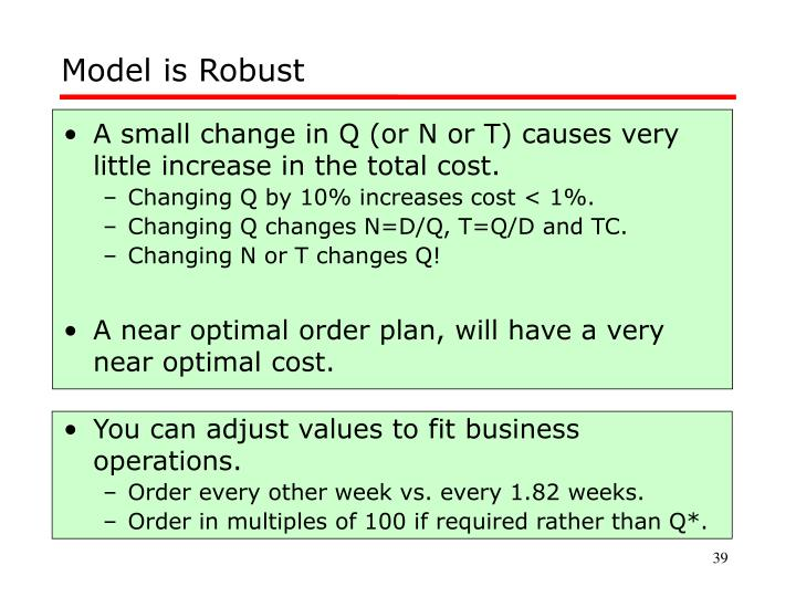 Model is Robust