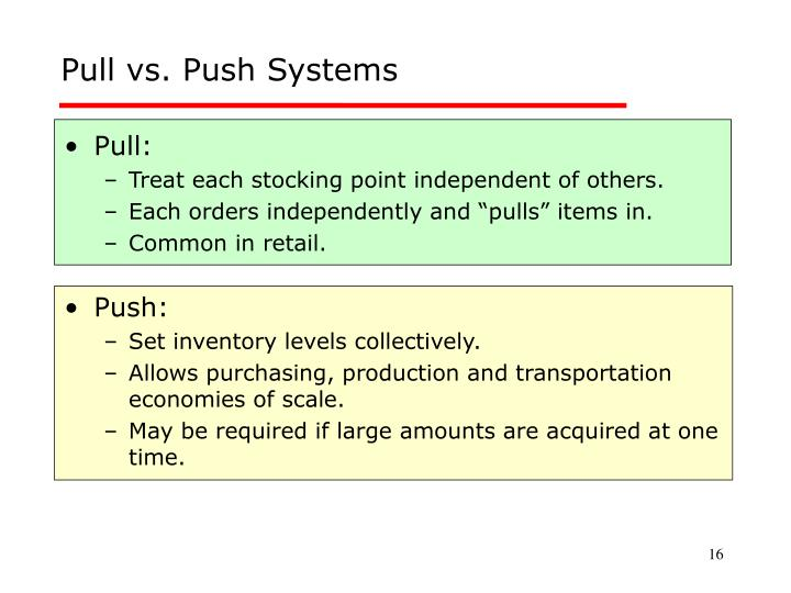Pull vs. Push Systems