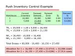 push inventory control example1